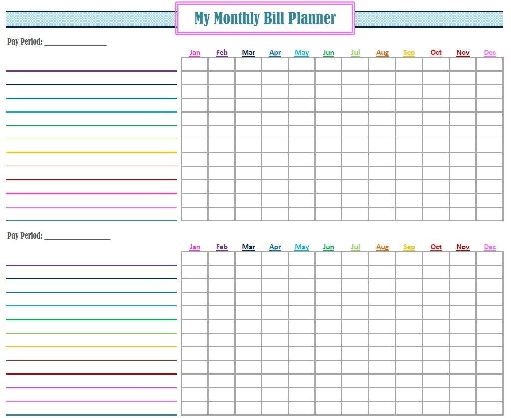 Monthly Payment Calendar Pdf - Template Calendar Design
