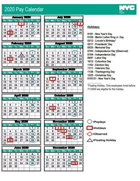 Nyc Doe Pay Period Calendar 2020 Pdf | 2021 Pay Periods Calendar