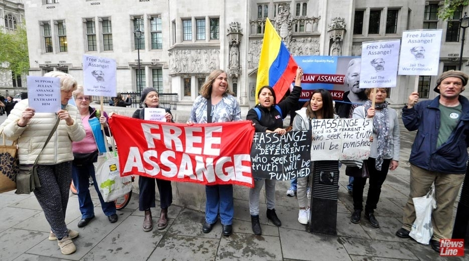 Parliament Square Protest - 'No Extradition For Assange' - Workers Revolutionary Party