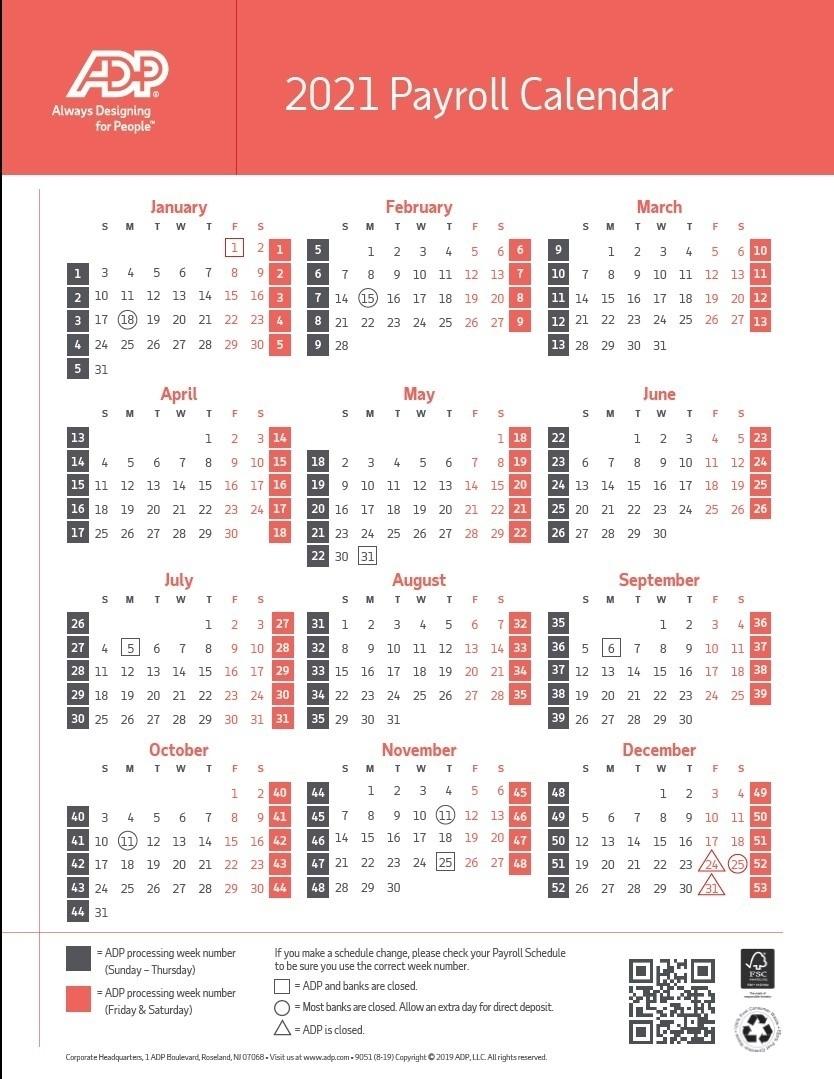 Pay Period Calendar 2021 | Calendar Template Printable