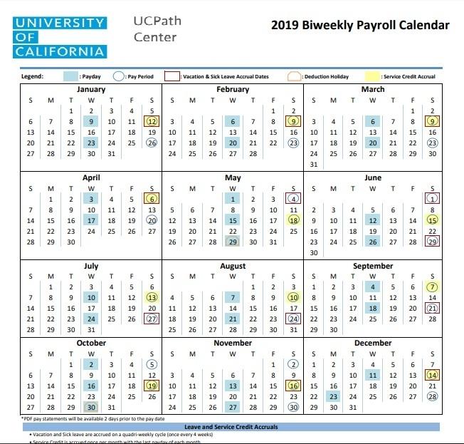 Pay Period Calendar 2021 Ucla | 2021 Pay Periods Calendar