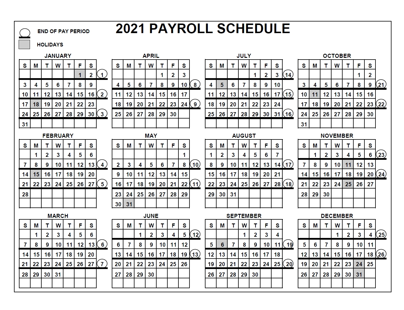 Pay Period Calendar 2021 / Your Pay / This Can Be Very Useful If You Are Looking For A Specific