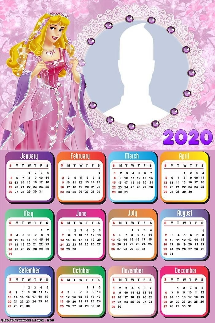 Princess Aurora Calendar 2020 | Calendar Design, Calendar, Calendar 2020