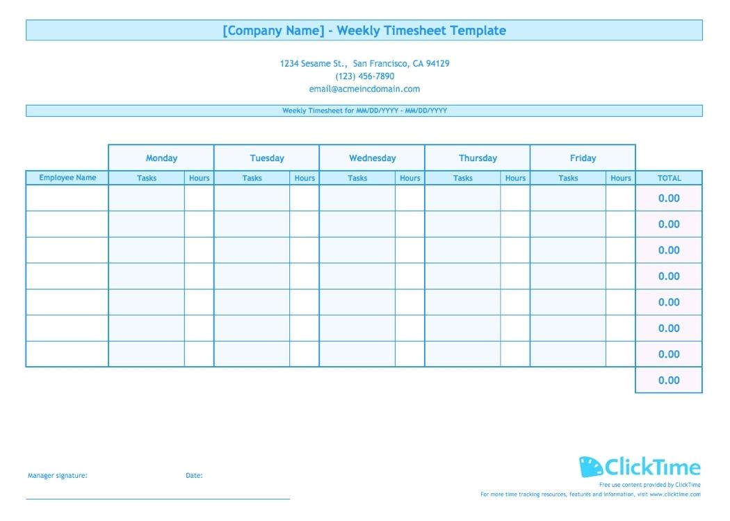 Printable Blank Bi-Weekly Employee Schedule - Calendar Inspiration Design