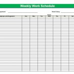 Printable Weekly Schedule With Times
