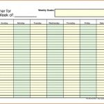 Daily Schedule With Time Slots Printable
