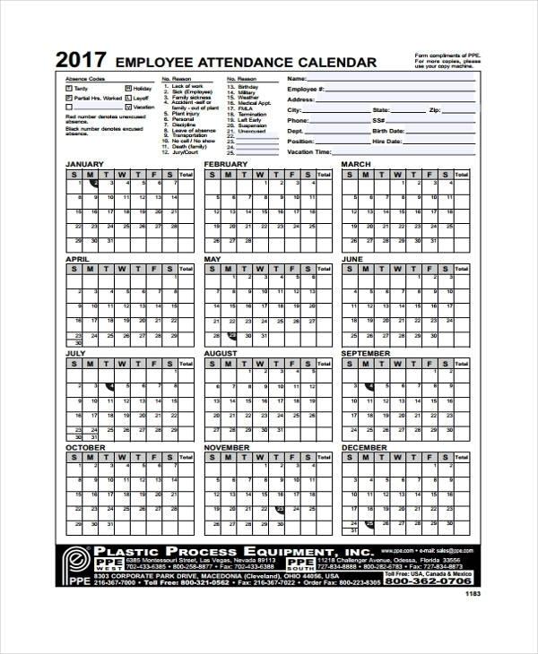 Printable Employee Time Off Tracking Calendar | Printable Calendar Template 2021