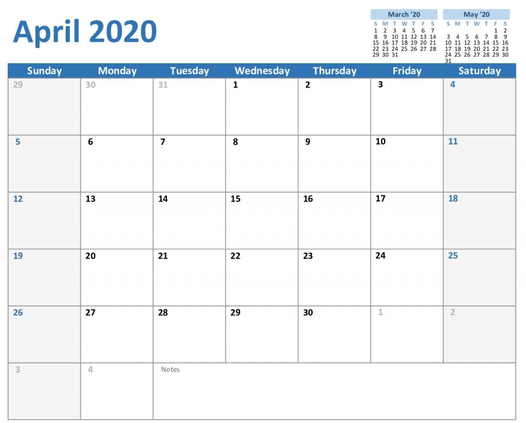 Printable Monthly 5 Day Calendar 2020 | Example Calendar Printable