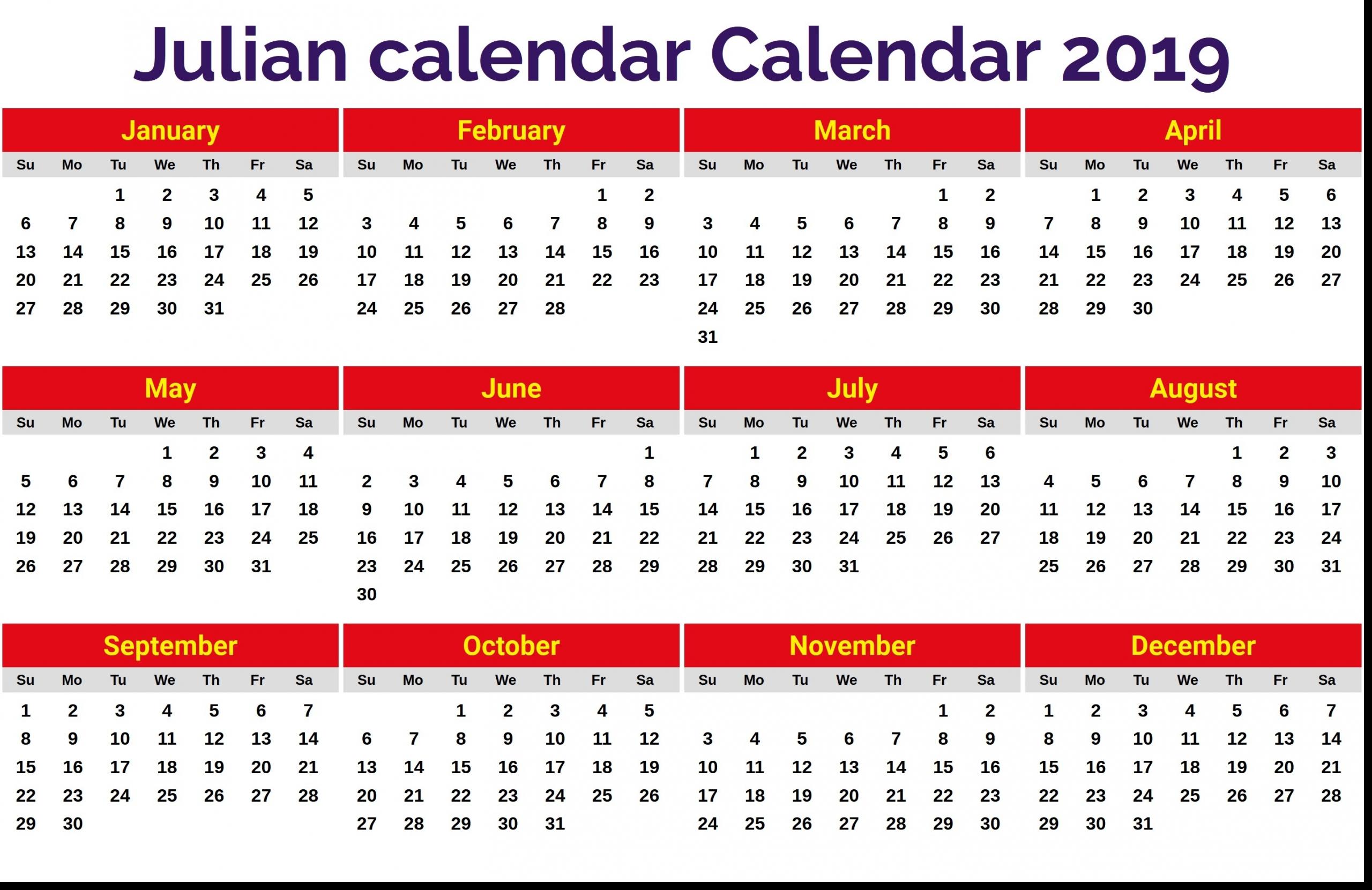 Quadax 2020 Julian Date Calendar Printable   Example Calendar Printable
