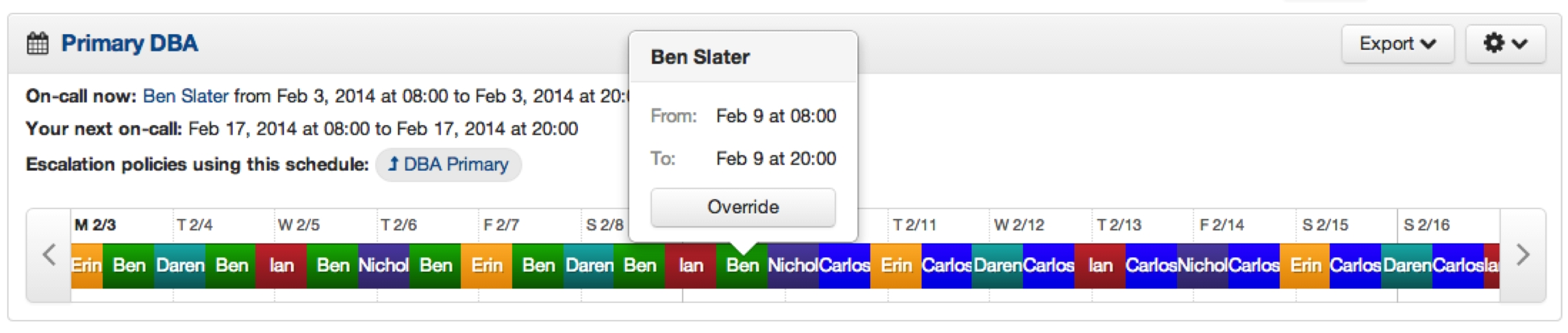 Rolling On-Call Schedules   Pagerduty