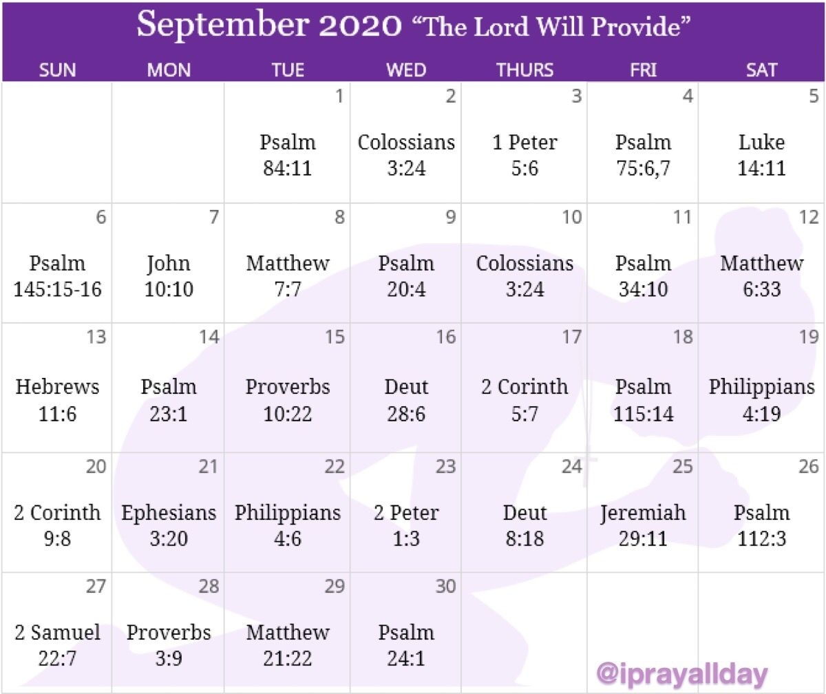 September Prayer Calendar In 2020 | Prayers, Unity, Calendar