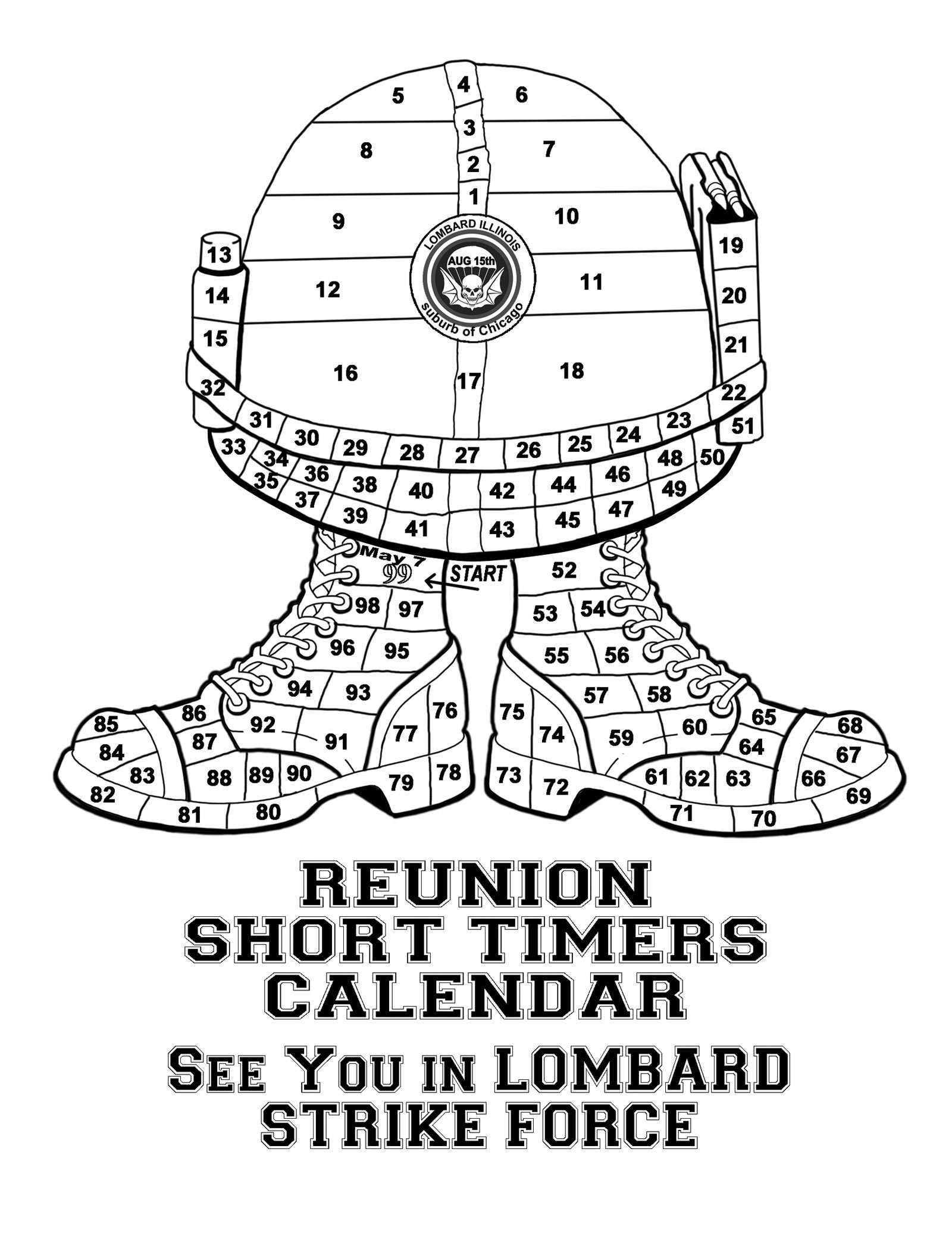 Short Timer Military Countdown :-Free Calendar Template