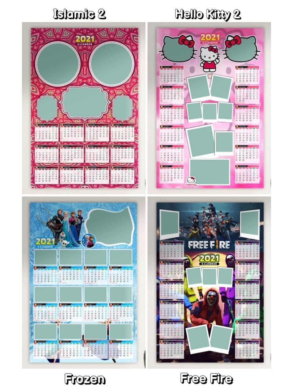Template Kalender 2021 Hello Kitty - Celoteh Bijak