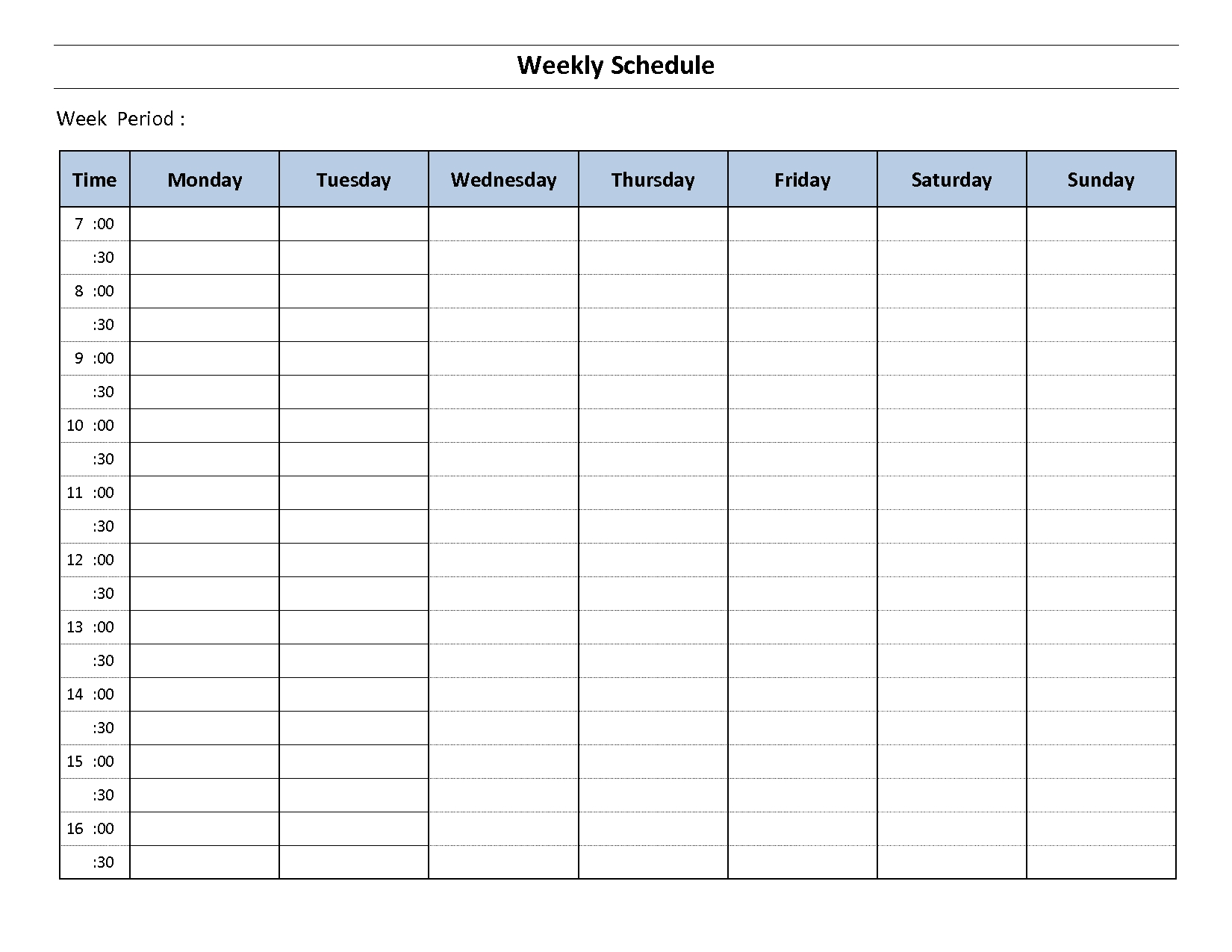 Top 5 Resources To Get Free Weekly Schedule Templates - Word Templates, Excel Templates