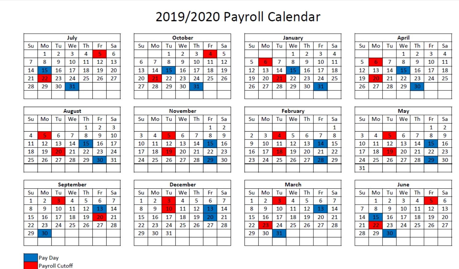 Unit 5 Calendar 2020 | Calendar Printables Free Templates