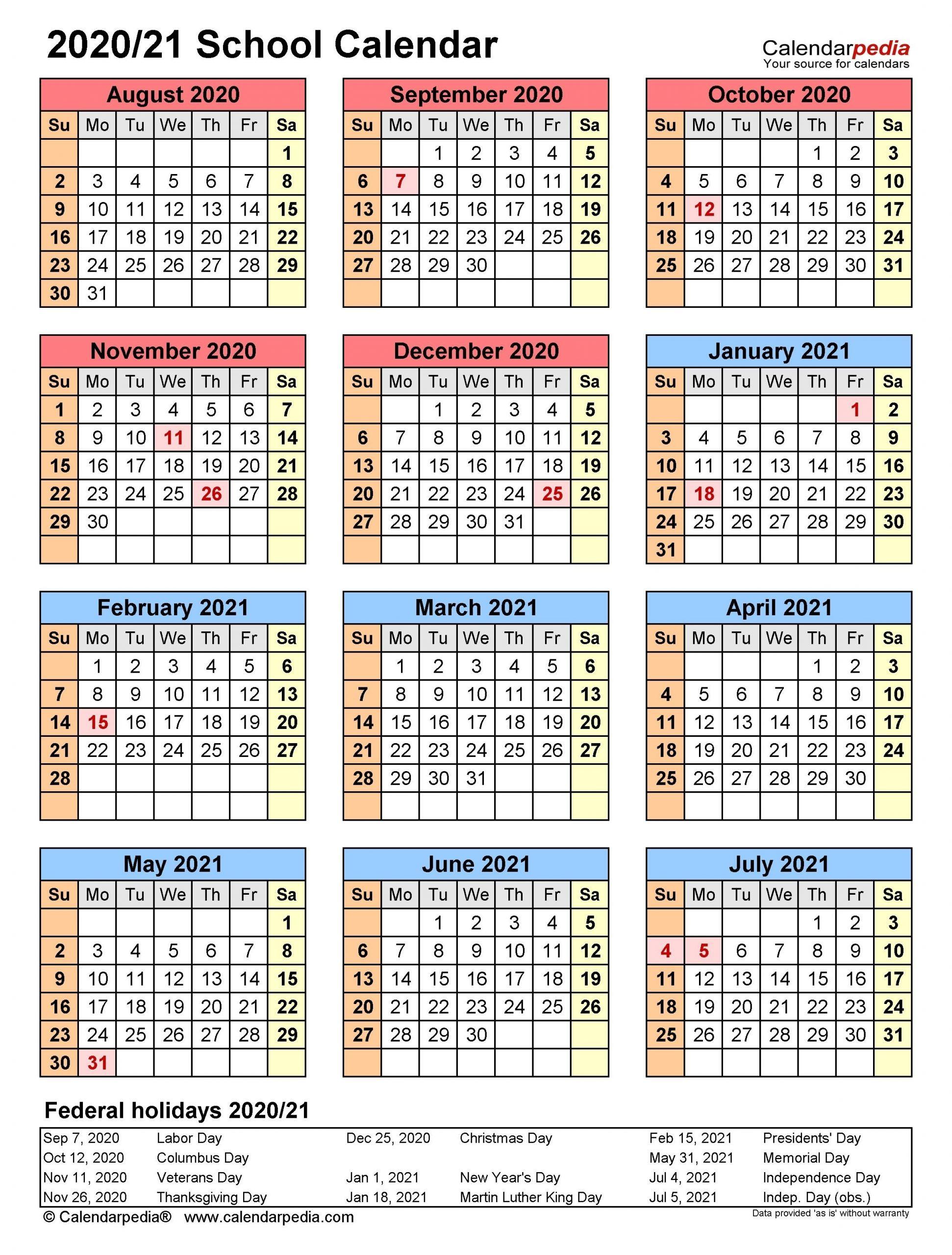 Universal Free Editable Calendars For School In 2020 | School Calendar, Student Calendar