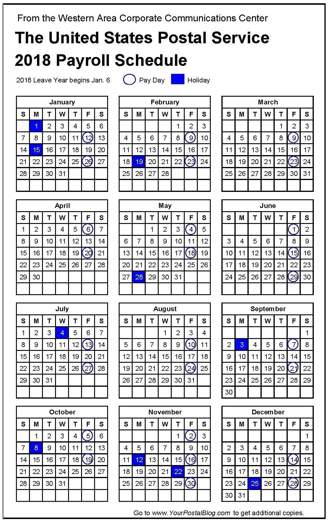 Usps Payday Calendar - Template Calendar Design