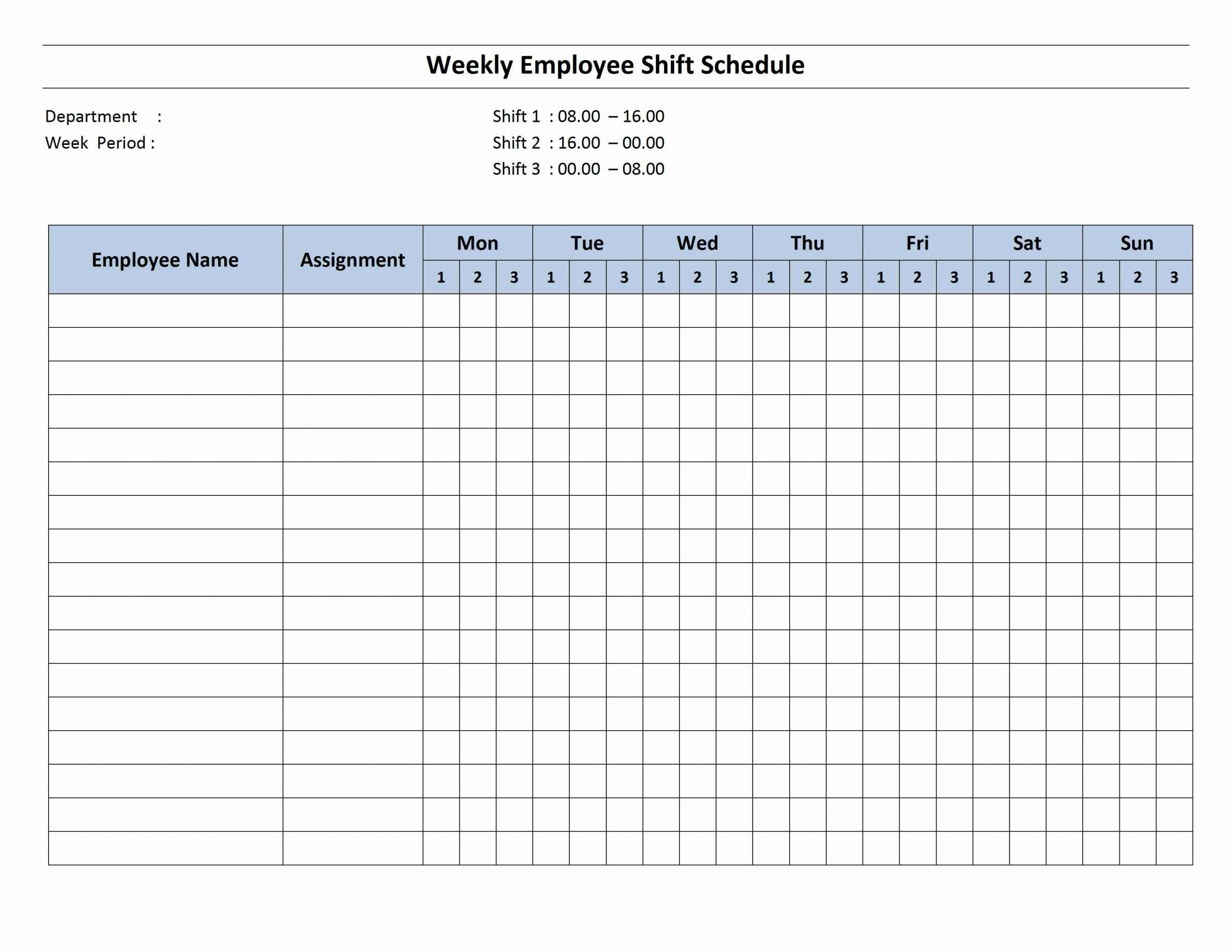 Weekly 8 Hour Shift Schedule (With Images) | Cleaning Schedule Templates, Schedule Template