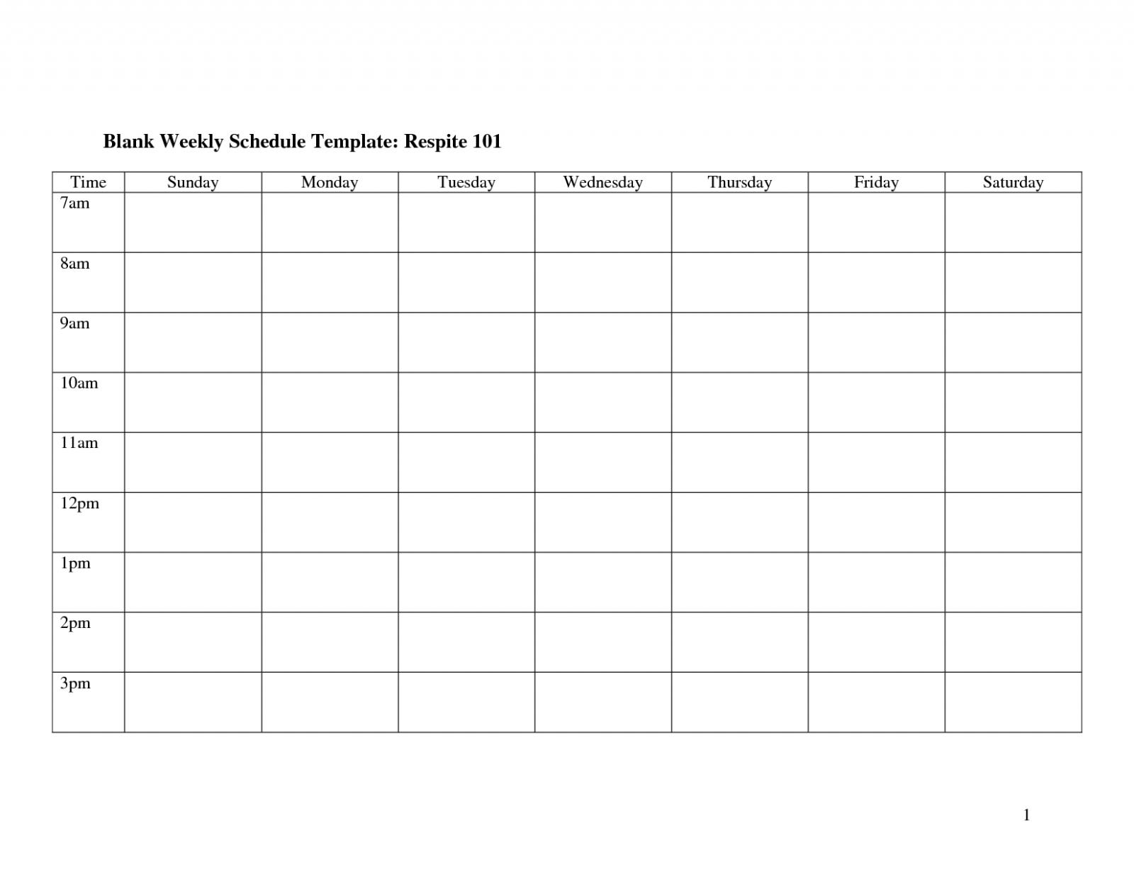 Weekly Calendar Template Monday To Friday   Example Calendar Printable