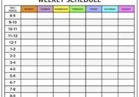 Weekly Calendar Template Time Slots Five Things That Happen When You Are In Weekly Calendar