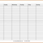 Blank Schedule With Date And Times