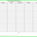 Weekly Calendar With Times Printable