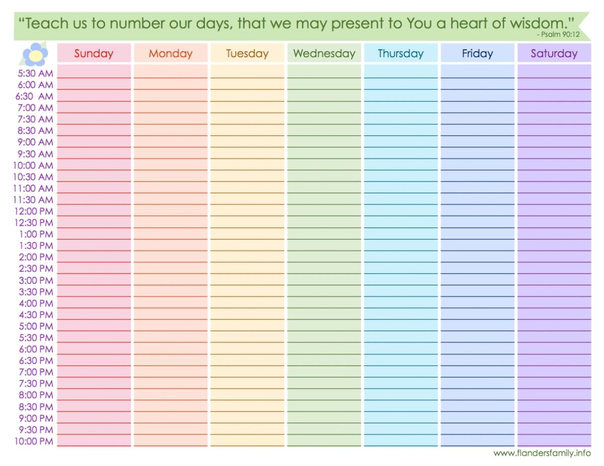 Weekly Schedule {Free Printable} | Weekly Schedule Printable, Weekly Calendar Printable, Weekly