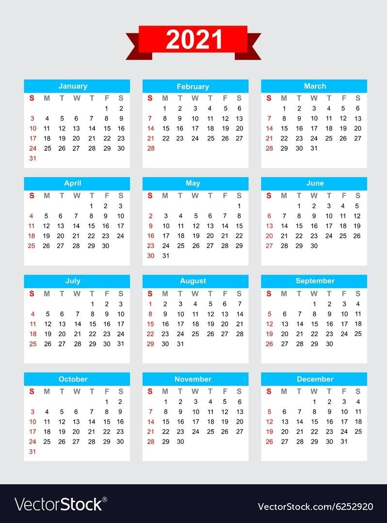 Working Week Calendar 2021   2021 Calendar