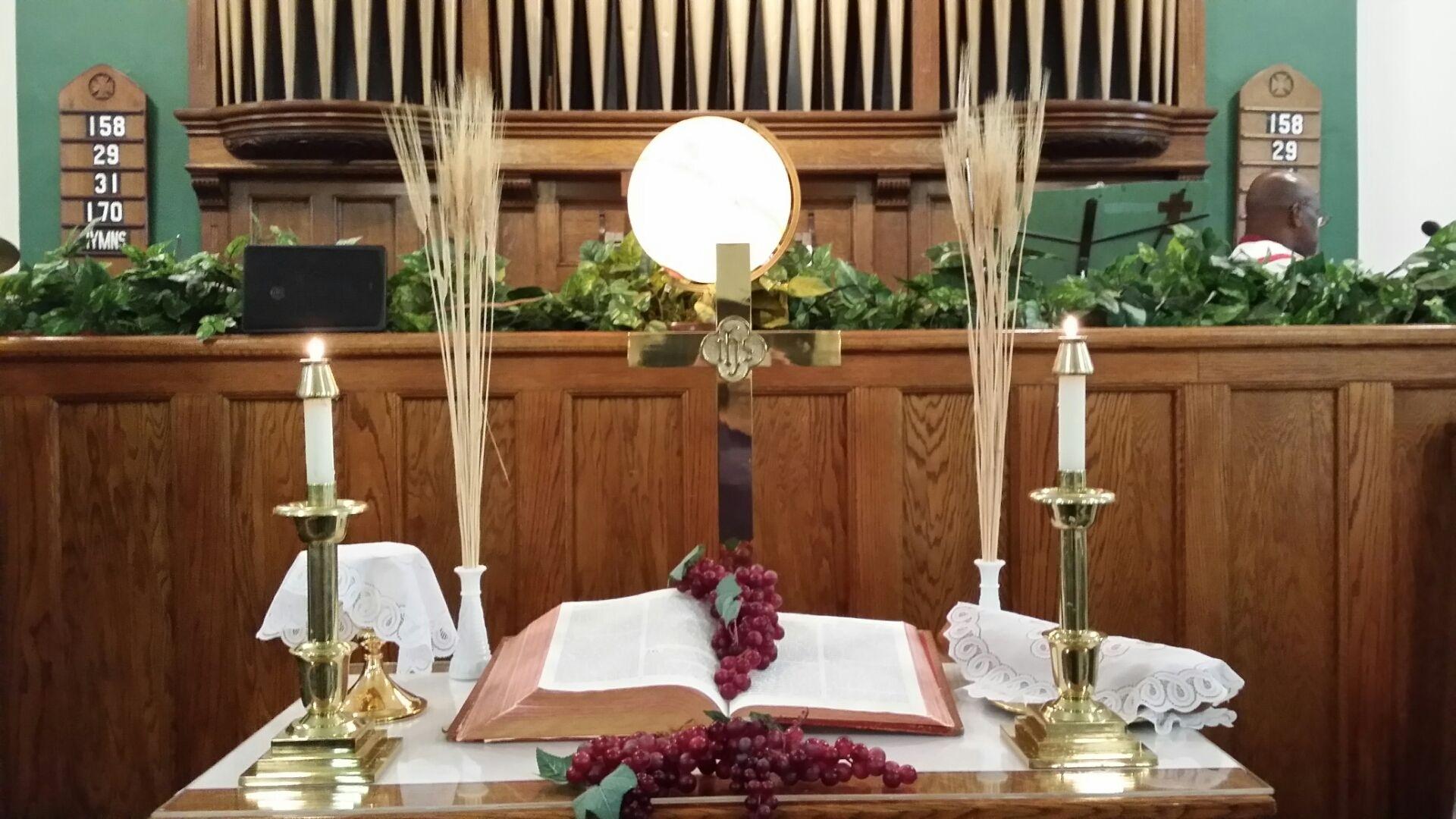 World Communion Sunday | Altar Decorations, Church Altar Decorations, Church Decor