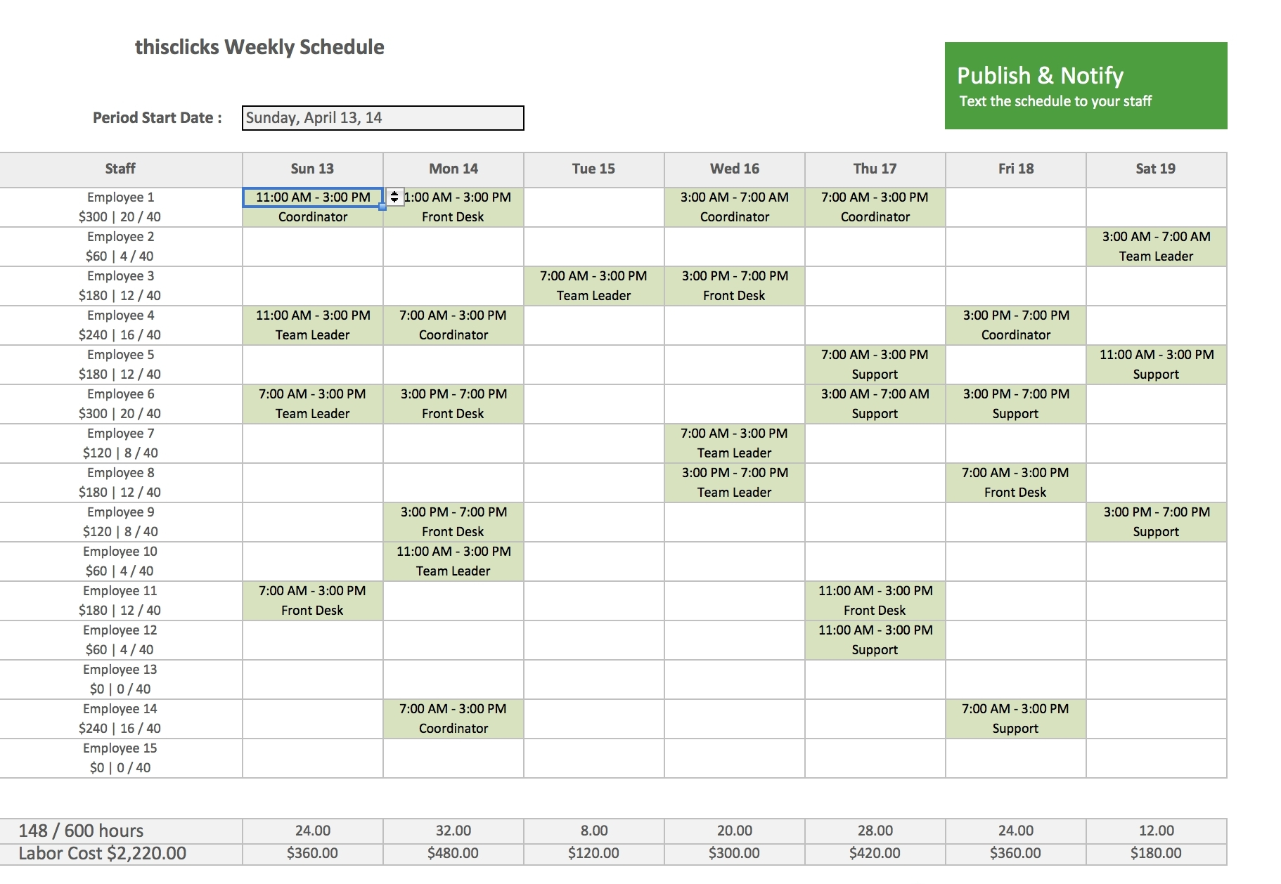 12 Hour Shift Schedule Template Excel   Calendar Template Printable