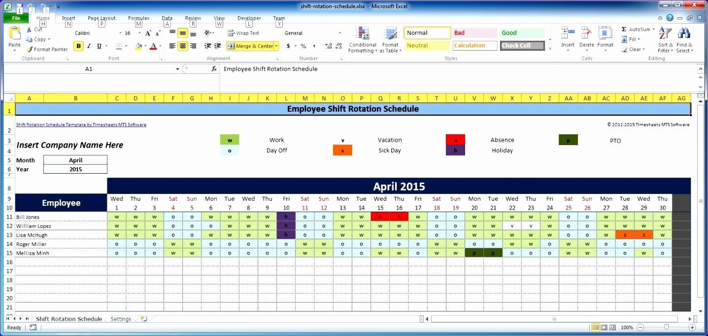 14 Weekly Employee Schedule Template Excel - Excel Templates - Excel Templates
