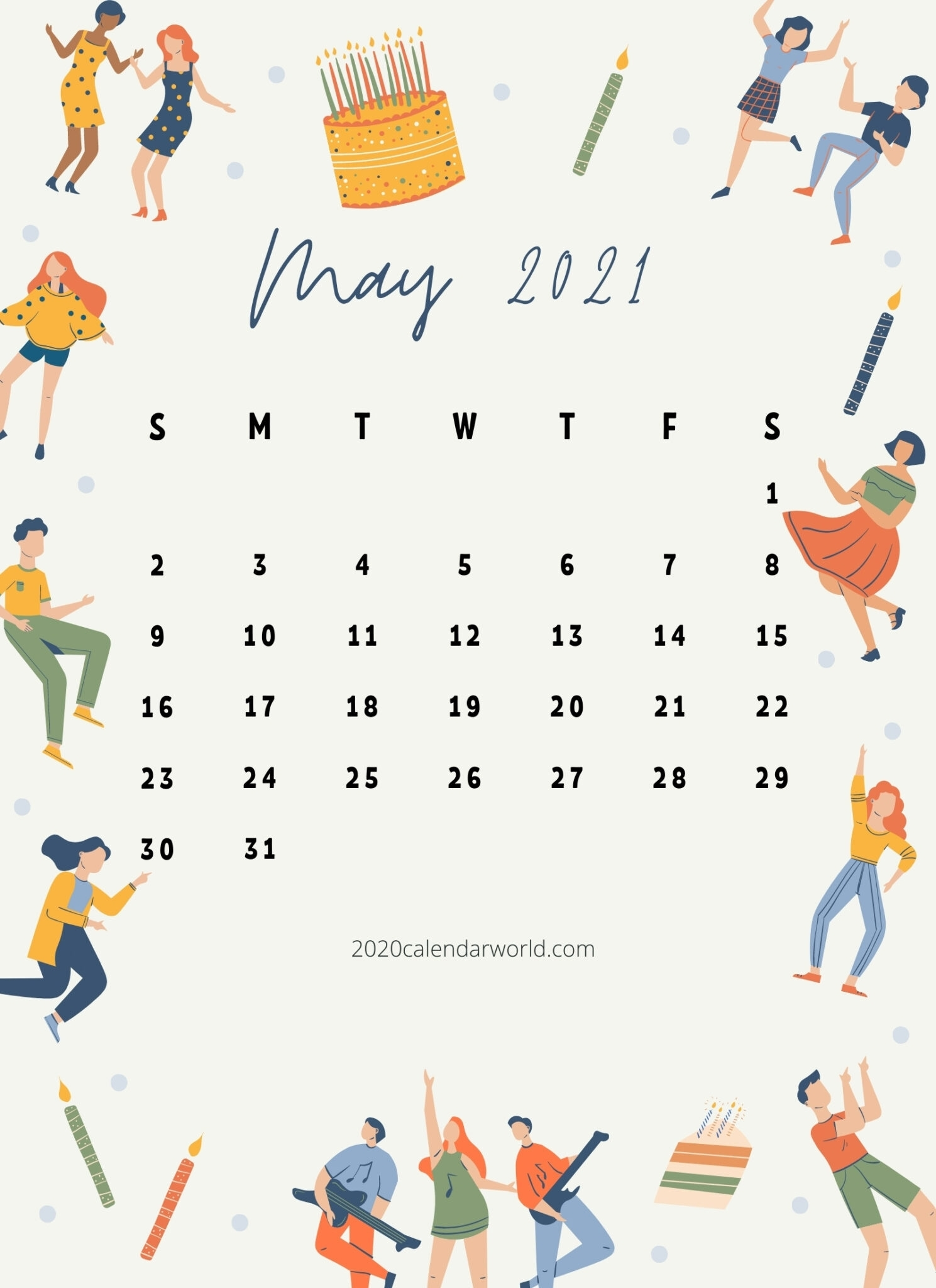 20+ May 2021 Calendar Printable- Best Designs For You