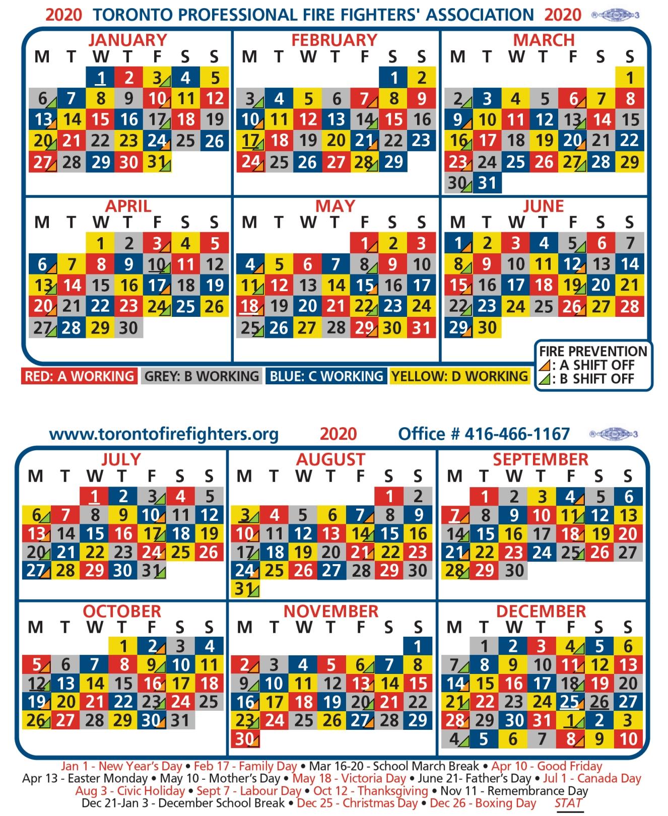 2020-Tpffa-Shift-Calendar   Greater Toronto Multiple Alarm Association