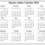 2021 Julian Date Calendar Printable Leap Year