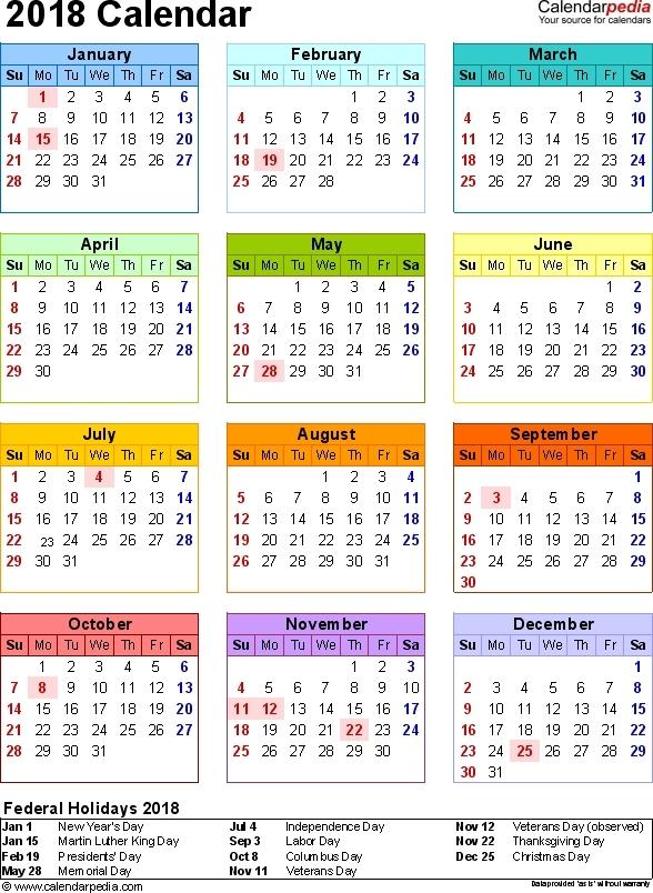 Calendar 2018 In Limba Romana Printabile | Calendar Template 2021