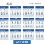 Calendar With Days Numbered 1 365