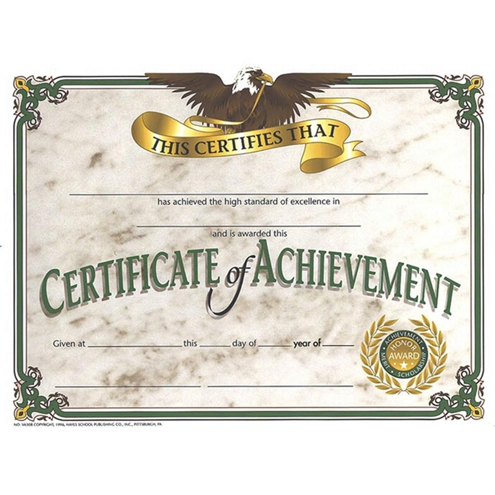 "Certificate Of Achievement, 8.5"" X 11"", Pack Of 30 - H-Va508 | Flipside | Certificates"