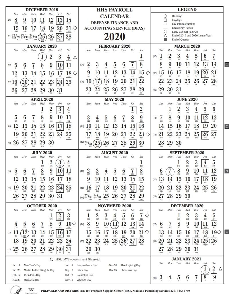 Dfas Payroll Calendar - Template Calendar Design