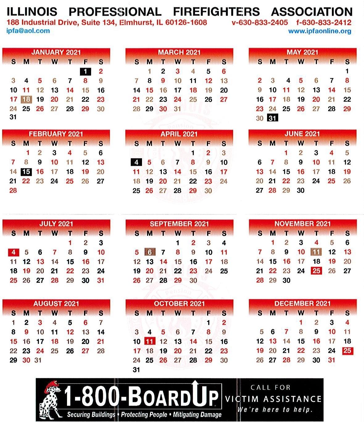 Fire Shift Calendar 2021   Example Calendar Printable