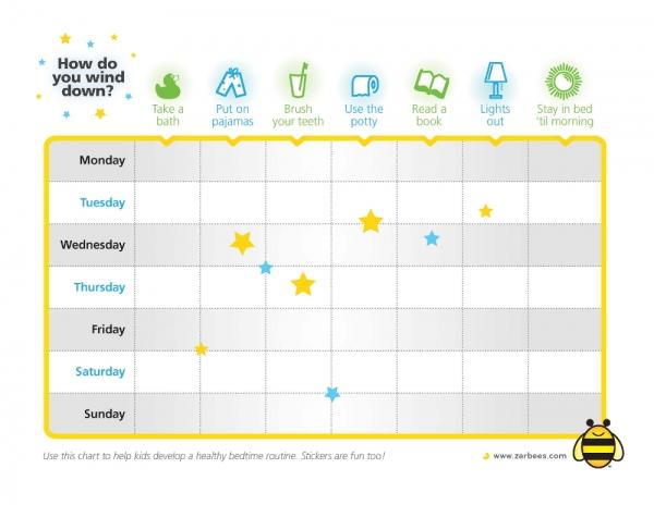 Healthy Bedtime Routine Ideas For Kids + Printable Sleep Rewards Chart