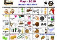 May National Day Calendar Free Printable Always The | National Catch Check More At Https://P