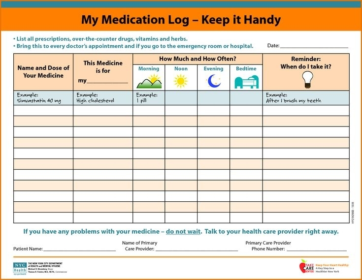 Medication Schedule Https://Cleverhippo/Daily-Schedule-Template   Medication Chart