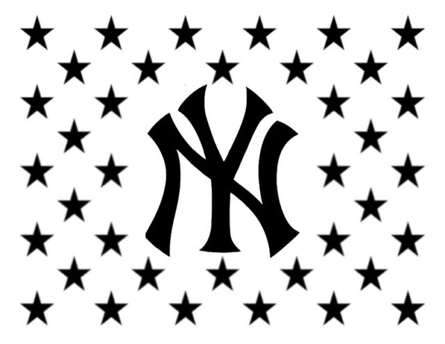 "Ny New York Yankees Flag Star Stars 11"" X 8.5"" Custom Stencil Fast Free Shipping | Ebay"