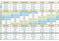 Printable 12 Hour Shift Schedule | Example Calendar Printable