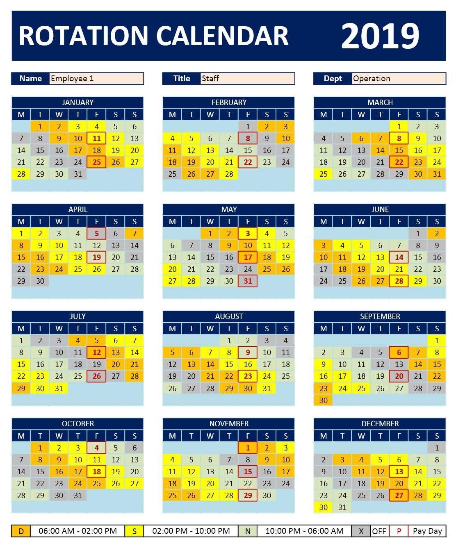 Printable Fire Shift Calendar 2021   Calendar Printables Free Templates