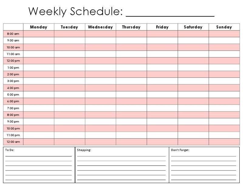 Printable Planners Half Hour Time Slots   Ten Free Printable Calendar 2020-2021