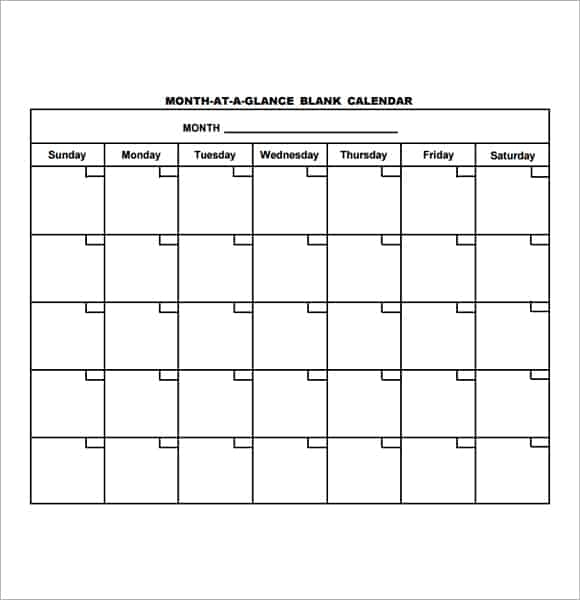 Sample Monthly Planner Templates - Free Printables Word Excel