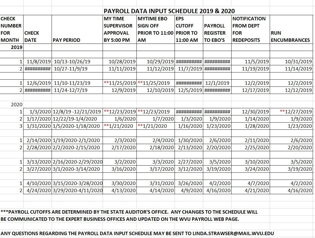 Wvu Pay Period Calendar 2020   2021 Pay Periods Calendar